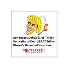 "Anti Obama - Pricel... Square Sticker 3"" x 3"""