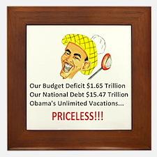 Anti Obama - Pricel... Framed Tile