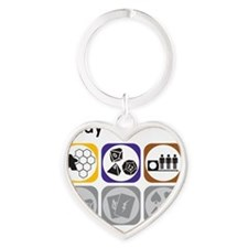 i play board games, RPGs, minis Heart Keychain