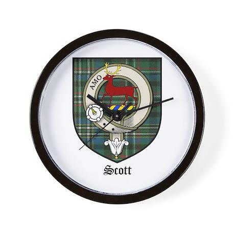 Scott Clan Crest Tartan Wall Clock