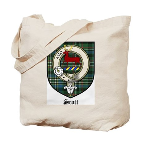Scott Clan Crest Tartan Tote Bag