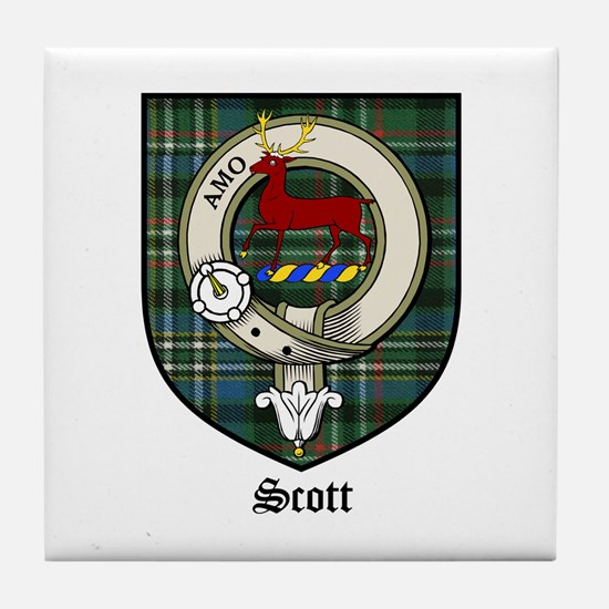 Scott Clan Crest Tartan Tile Coaster