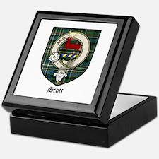 Scott Clan Crest Tartan Keepsake Box