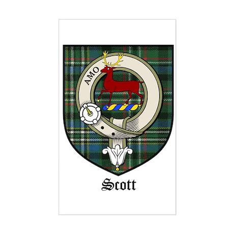 Scott Clan Crest Tartan Rectangle Sticker