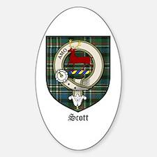 Scott Clan Crest Tartan Oval Decal