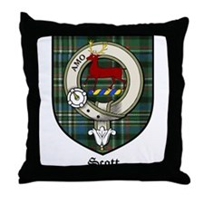 Scott Clan Crest Tartan Throw Pillow