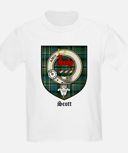 Scott Clan Crest Tartan Kids T-Shirt