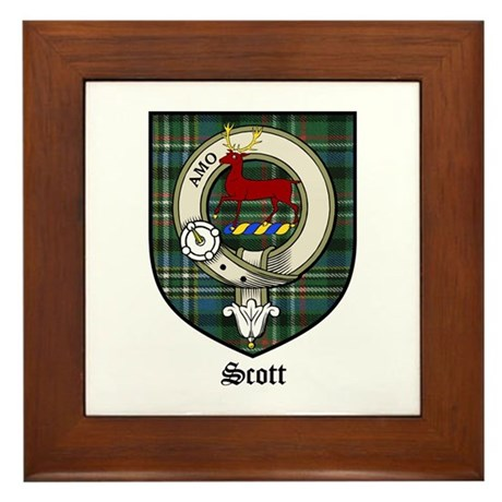 Scott Clan Crest Tartan Framed Tile