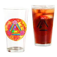 Triple Rose Shield of Light p Drinking Glass