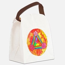 Triple Rose Shield of Light p Canvas Lunch Bag