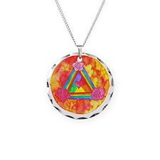 Triple Rose Shield of Light  Necklace