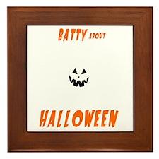 Batty-About-Halloween Framed Tile