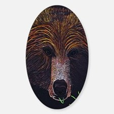 bear-journal Sticker (Oval)