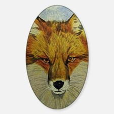 fox journal Sticker (Oval)
