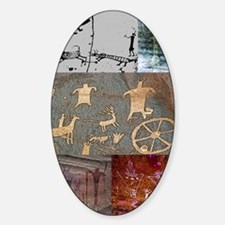 utah rock art-journal Sticker (Oval)