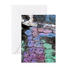 purple snake journal in plastic Greeting Card