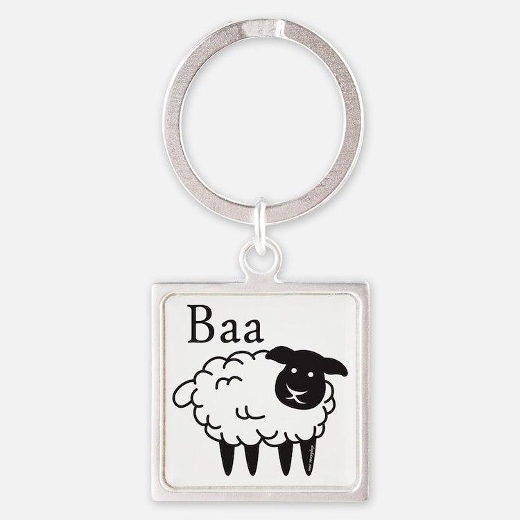 baa Square Keychain