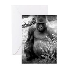 gorilla blanket Greeting Card