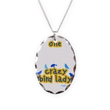 blackcrazyBIRDLady Necklace Oval Charm