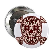 "Brown Skull 2.25"" Button"