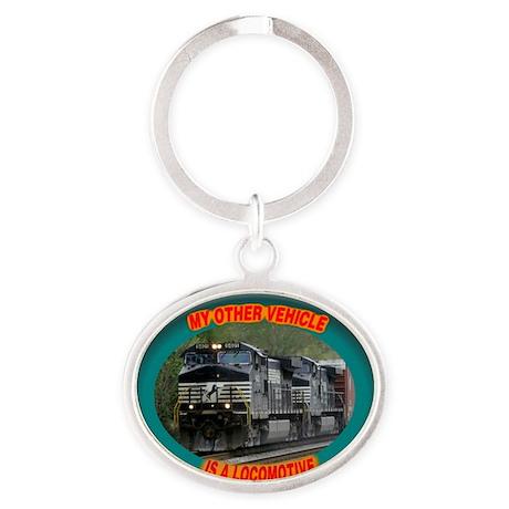 ns_vehicle_tee Oval Keychain