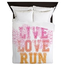 live love run Queen Duvet