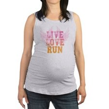 live love run Maternity Tank Top