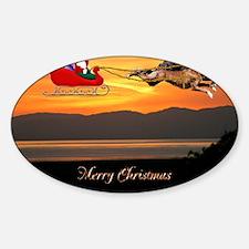 Christmas Card 1Fullsize Sticker (Oval)