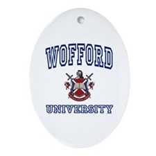 WOFFORD University Oval Ornament