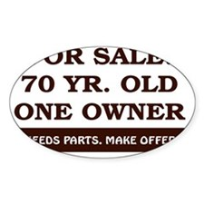 For Sale 70 year old Birthday Decal