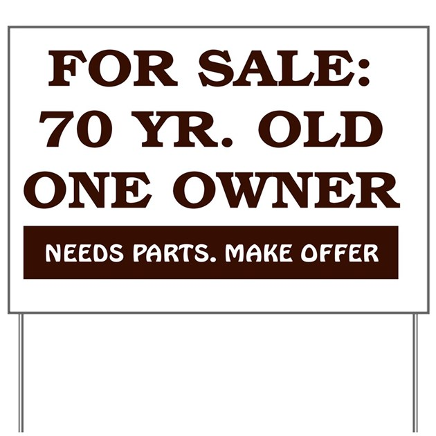 For Sale 70 Year Old Birthday Yard Sign By Admin Cp14803420