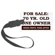For Sale 70 year old Birthday Luggage Tag