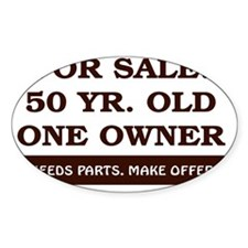 For Sale 50 year old Birthday Decal