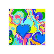 "Fiji In My Heart Blue 10x8 Square Sticker 3"" x 3"""