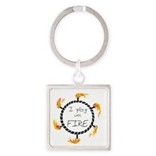 iplaywithfire_men copy Square Keychain