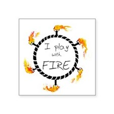 "iplaywithfire_men copy Square Sticker 3"" x 3"""