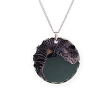 Napping Cat-Scroll-M Necklace