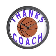 Thank You Basketball Coach Gifts Wall Clock