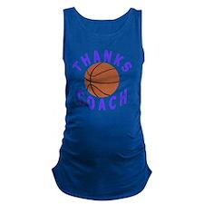 Thank You Basketball Coach Gift Maternity Tank Top