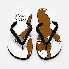 Man Bear Flip Flops