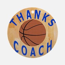 Basketball Coach Thank You Gifts Round Ornament