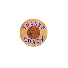 Basketball Coach Thank You Gift Magnet Mini Button