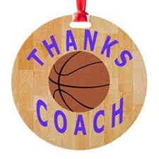 Basketball Coach Thank You Gift Mag Ornament