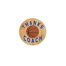 Thank You Basketball Coach Gift Magnet Mini Button
