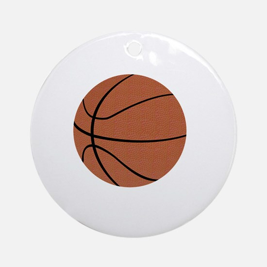Thank You Basketball Coach Gifts Round Ornament