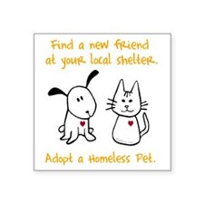 "blackhomelessanimal Square Sticker 3"" x 3"""