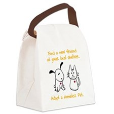 blackhomelessanimal Canvas Lunch Bag