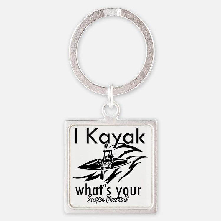 kayak Square Keychain