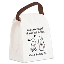 homelessanimal-blacktype Canvas Lunch Bag