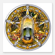"Samhain Pentacle Square Car Magnet 3"" x 3"""